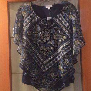 NWT embellished handkerchief top